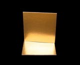 2731 - 8 Inch Cake Board, Gold Foil Single Wall Corrugated. C03