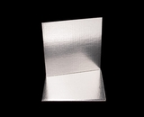 2732 - 8 Inch Cake Board, Silver Foil Single Wall Corrugated. C03
