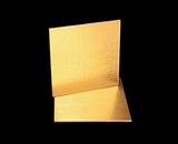 2735 - 9 Inch Cake Board, Gold Foil Single Wall Corrugated. C04
