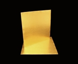 2739 - 10 Inch Cake Board, Gold Foil Single Wall Corrugated. C05
