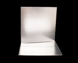 2744 - 12 Inch Cake Board, Silver Foil Single Wall Corrugated. C07