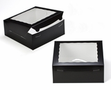 "2832 - 10"" x 10"" x 4"" Black/White Lock & Tab Box with Window"