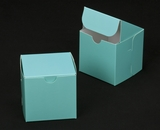 "2881 - 4"" x 4"" x 4"" Diamond Blue/White Lock & Tab Box without Window"