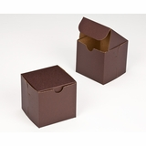 "2882 - 4"" x 4"" x 4"" Chocolate/Brown without Window, Lock & Tab Box With Lid"