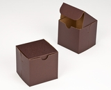 "2882 - 4"" x 4"" x 4"" Chocolate/Brown without Window, Lock & Tab Box With Lid. B08"