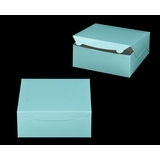 "2884 - 10"" x 10"" x 4"" Diamond Blue/White Lock & Tab Box without Window"