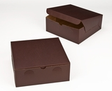 "2885 - 10"" x 10"" x 4"" Chocolate/Brown Lock & Tab Box without Window"