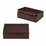 "2888 - 14"" x 10"" x 4"" Chocolate/Brown Lock & Tab Box without Window"