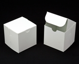 "2908 - 4"" x 4"" x 4"" White/White Lock & Tab Box without Window"