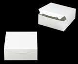 "2915 - 10"" x 10"" x 4"" White/White without Window, Lock & Tab Box With Lid. A29"