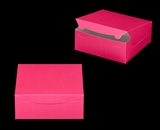 "2916 - 10"" x 10"" x 4"" Pink/White without Window, Lock & Tab Box With Lid"