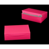 "2924 - 14"" x 10"" x 4"" Pink/White Lock & Tab Box without Window"