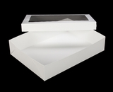 "294x293 - 19"" x 14"" x 4"" White/White Lock & Tab Box Set with Window, 50 COUNT. A19xA10"