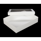"294x293 - 19"" x 14"" x 4"" White/White Lock & Tab Box Set with Window, 50 COUNT"