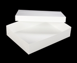 "294x397 - 19"" x 14"" x 4"" White/White Lock & Tab Box Set without Window, 50 COUNT"