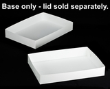 "296 - 26"" x 18"" x 4"" White/White Lock & Tab Box Base Only, 50 COUNT"