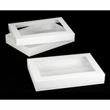 "296x295 - 26"" x 18"" x 4"" White/White Lock & Tab Box Set with Window"