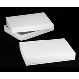 "296x396 - 26"" x 18"" x 4"" White/White Lock & Tab Box Set without Window"
