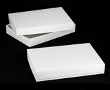 "296x396 - 26"" x 18"" x 4"" White/White Lock & Tab Box Set without Window, 50 COUNT. A27xA26"