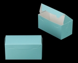 "3037 - 8"" x 4"" x 4"" Diamond Blue/White without Window, One Piece Lock & Tab Box With Lid. A14"