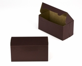 "3039 - 8"" x 4"" x 4"" Chocolate/Brown without Window, Lock & Tab Box With Lid. A11"