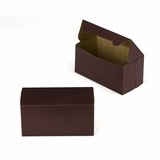 "3039 - 8"" x 4"" x 4"" Chocolate/Brown Lock & Tab Box without Window"