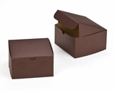 "3043 - 7"" x 7"" x 4"" Chocolate/Brown Lock & Tab Box without Window"