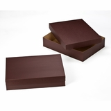 "3045x3048 - 19"" x 14"" x 4"" Chocolate/Brown Lock & Tab Box Set without Window"