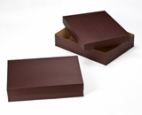 "3045x3048 - 19"" x 14"" x 4""  Chocolate Brown/Brown Lock & Tab Box Set without Window, 50 COUNT. A17xA13"