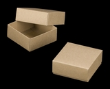 "3068x2893 - 4"" x 4"" x 1 3/4"" Brown/Brown Two Piece Simplex Box Set, without Window. B04xB04"