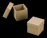 "3069x2893 - 4"" x 4"" x 4"" Brown/Brown Two Piece Simplex Box Set, without Window. A08xB04"