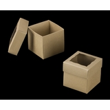 "3069x3489 - 4"" x 4"" x 4"" Brown/Brown Simplex Box Set, with Window"