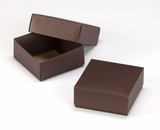"3108x2892 - 4"" x 4"" x 1 3/4"" Chocolate/Brown Two Piece Simplex Box Set, without Window. B04xB04"