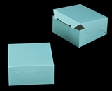 "3241 - 8"" x 8"" x 4"" Diamond Blue/White Lock & Tab Box without Window"