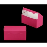 "3243 - 8"" x 4"" x 4"" Pink/White Lock & Tab Box without Window"