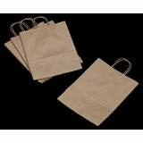 "3246 - Debbie Kraft Shopping Bag with Handle 10"" X 5"" X 13"" - 100ct"
