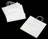 "3249 - Star White Shopping Bag with Handle 13"" x 7"" x 13"""
