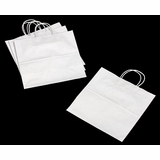 "3249 - Star White Shopping Bag with Handle 13"" x 7"" x 13"" - 100ct"