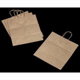 "3250 - Take Out Kraft Shopping Bag with Handle 14"" x 10""x 15 1/2"" - 100ct"