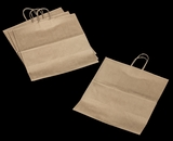 "3252 - Grande Kraft Shopping Bag with Handle 16"" x 11"" x 18 1/4"" - 100ct. A25"