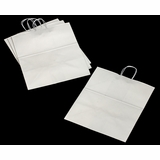 "3253 - Grande White Shopping Bag with Handle 16"" x 11"" x 18 1/4"""