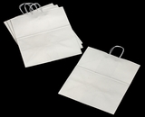 "3253 - Grande White Shopping Bag with Handle 16"" x 11"" x 18 1/4"" - 100ct. A27"