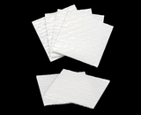 "3255 - 4"" x 4"" Candy Pad, White with White Core, 3-Ply Glassine Candy Box Liner"
