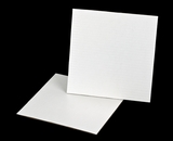 3256 - 10 inch White Cake Square, Coated Corrugated Cake Board. C05