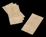"3260 - 4 LB Wax Coated Kraft SOS Bag 5"" x 3 1/8"" x 9 11/16"""