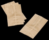"3261 - 6 LB Wax Coated Kraft SOS Bag 6"" x 3 5/8"" x 11"""