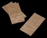 "3262 - 8 LB  Wax Coated Kraft SOS Bag 6 1/8"" x 4"" x 12 3/8"" - 100ct"