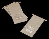 "3265 - 1 LB Kraft/Poly Tin Tie Window Bag 4 3/4"" x 2 1/2"" x 9 1/2""  - 100ct"