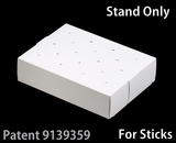 "3287 - 8 1/2"" x 6"" x 2"" White/White Cake Pop Stand for Sticks, 50 COUNT. C09"