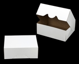 "3314 - 9"" x 7"" x 3 1/2"" White/Brown without Window, Timesaver Box With Lid"